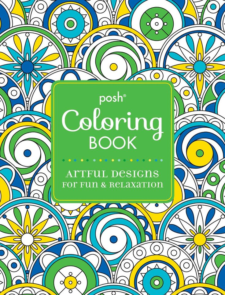 Amazon Posh Adult Coloring Book Artful Designs For Fun And Relaxation
