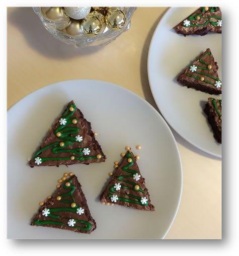 Gluténmentes brownie karácsonyfák - Gluténérzékenység, Cöliákia, Gabonaallergia