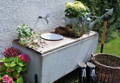 mamas kram: Waschplatz im Garten