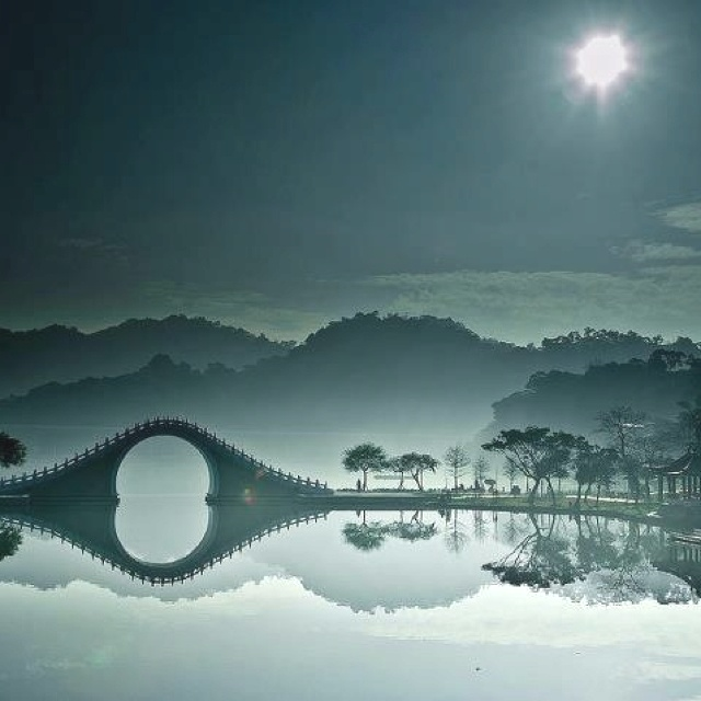 Moonbridge in Da-Hu Park, Taipei: Dahu Parks, Travel Time, Moon Bridges, Da Hu Parks, Travels Da Hu, Moonbridg, Travel Destinations