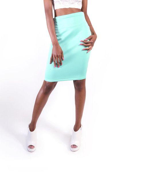 Scuba Bodycon Skirt - SLAY Boutique  - 1
