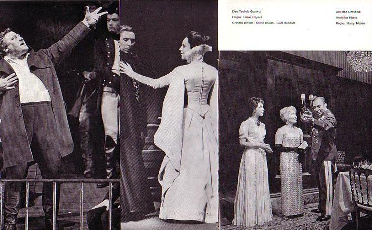 Theater Berlin - Maria Stuart- Des Teufels General 1966