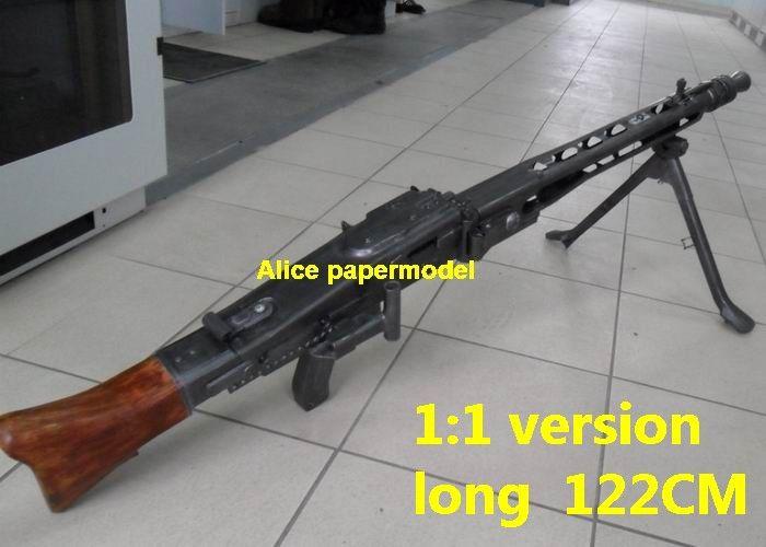 Alice papermodel]1:1 WWII German MG42 MG-42 heavy machine