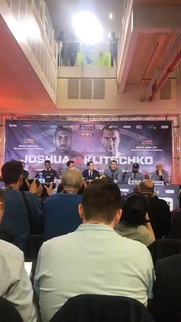 JETZT LIVE! Die Pressekonferenz mit Wladimir Klitschko und Anthony Joshua. Noch 2 Tage bis zum Kampf des Jahres in Wembley...