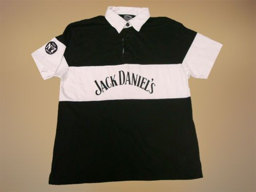 Vintage-1996-Jack-Daniels-Nr7-M-POLO-SHIRT-Cotton-Jersey-Maglia-Camisa-Soccer