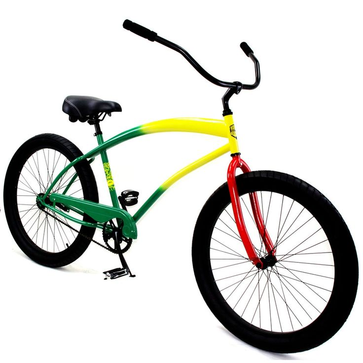 "Zycle Fix 26"" #CobraBeach #Cruiser Single-Speed Bike Rasta"