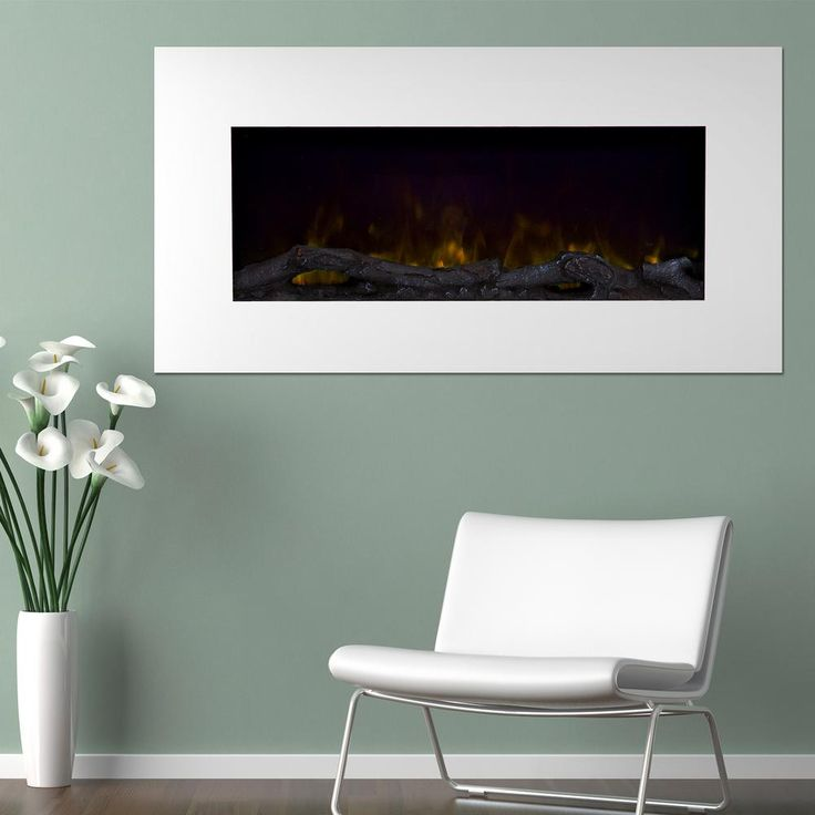 36 in. Color Changing LED Electric Fireplace in White