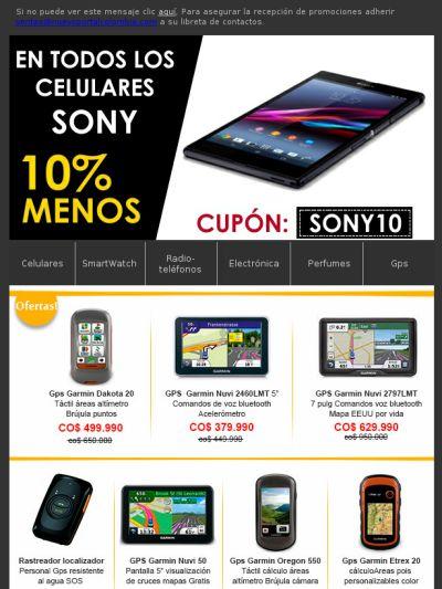 Imperdible 10% de descuento en SmartPhone Sony Xperia hasta el 29 de agosto de 2014!