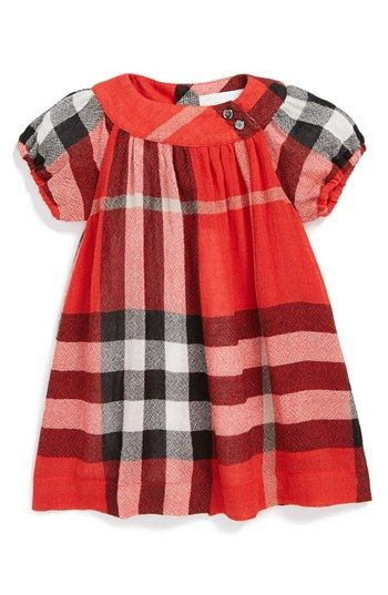 baby burberry dress. Similar look with the Oliver + S Class Picnic Blouse pattern?