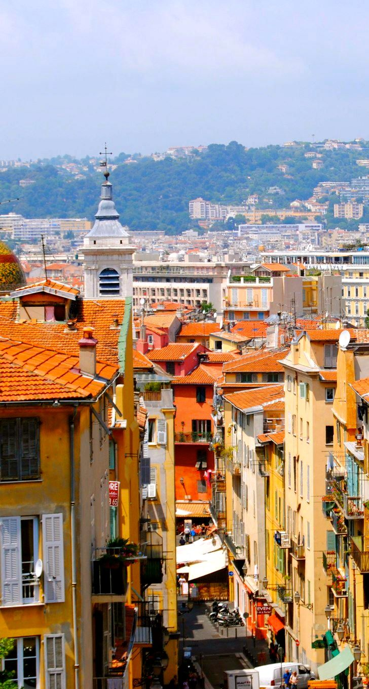 The town of Nice, France- spend Christmas day here 1988. Traveled on the train from Toulon, France