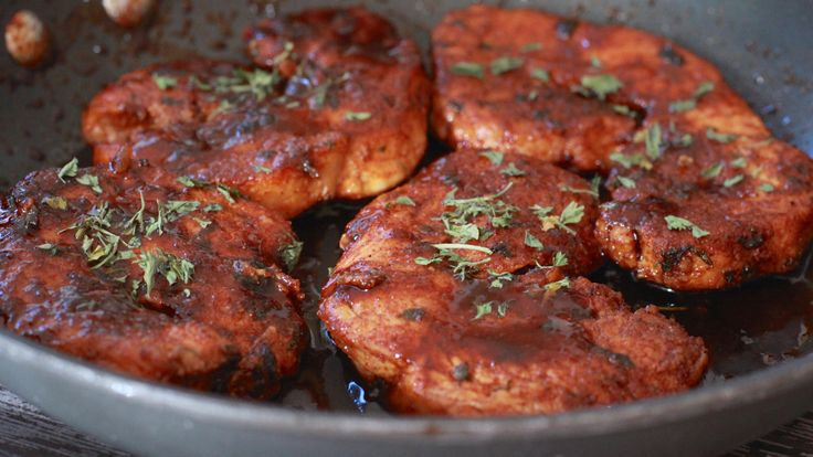 Sweet & Spicy Coca-Cola Glazed Turkey Chops | Divas Can Cook