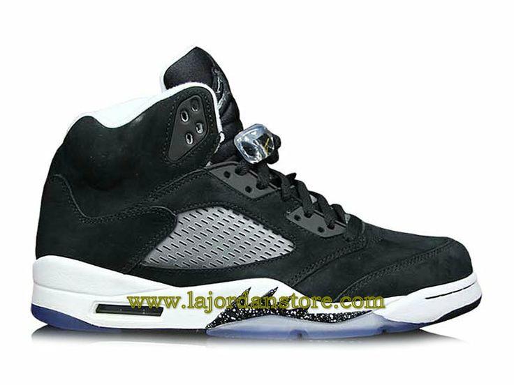 Air Jordan 5 Retro Chaussure Pour Homme Noir Blanc 136027-035-Boutique Air  Jordan