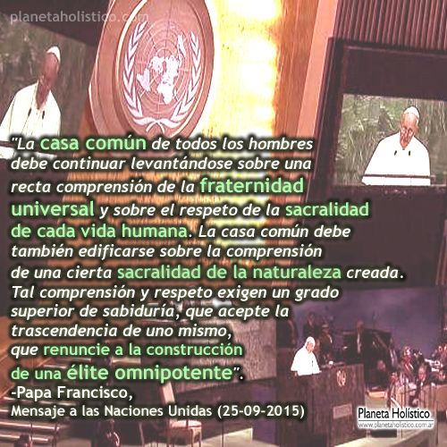 Frase de Papa Francisco