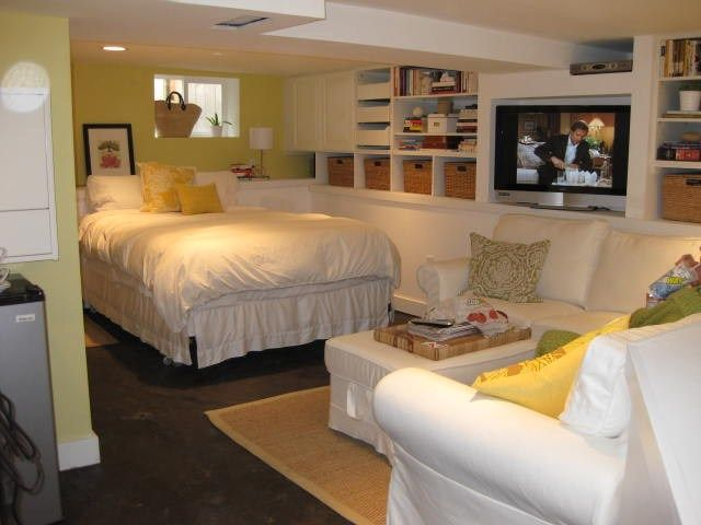 Bedroom in basement, designed by Carlisle Classic Homes. So planning a room like this in the basement.