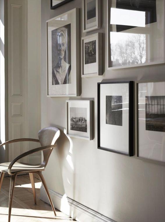 Monday inspiration: Neutrals. Great wall of art; simplicity