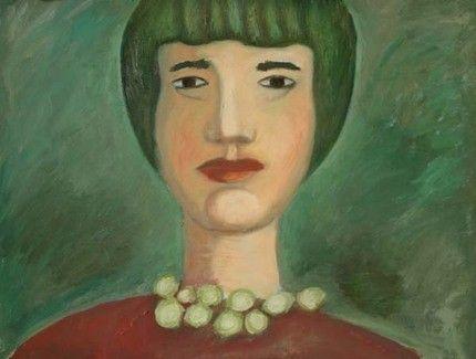Title: Ritratto verde, Technique: Olio, Dimension: 40 x 50 cm, Artist: Silvio Mazzotta
