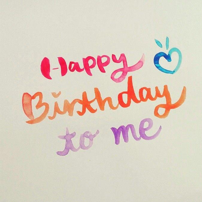 Happy birthday to me celebrate calligraphy typo