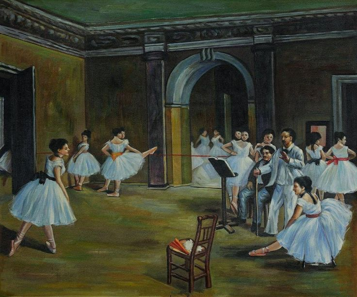 edgar degas paintings comparison and analysis Monet, paris) this painting was exhibited at the first impressionist exhibition in  1874  edgar degas, the ballet class, 1871-1874, oil on canvas, 75 x 85 cm.