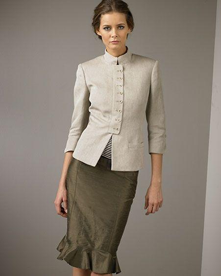 Женские деловые костюмы и офисная мода весна-лето 2016 - фото