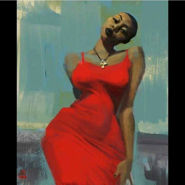 Sexy, Sassy, Black Woman  Art  Pinterest  Black Women-3840