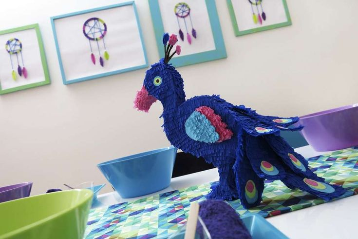 Peacock, Dreamcatcher, Spa Birthday Party Ideas | Photo 1 of 11 | Catch My Party