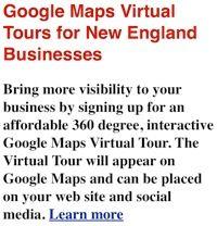 Google Maps Virtual Tours - Street Views New England