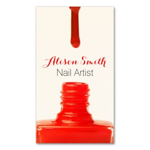 Nail Artist Nail Polish. I love this design! It is available for customization or ready to buy as is. All you need is to add your business info to this template then place the order. It will ship within 24 hours. Just click the image to make your own!