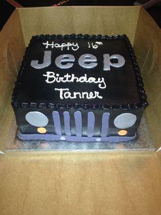 Jeep Cake on Pinterest | Cakes, Ferrari Cake and Birthday Cakes