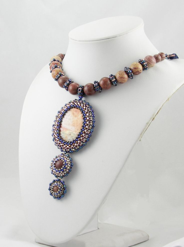 Nitecznik necklace beading jasper nitecznik.blogspot.com