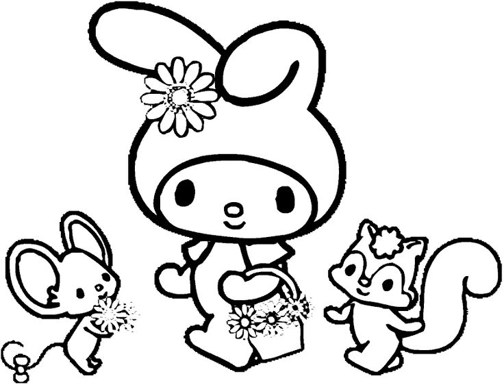 11 best my melody images on Pinterest My melody, Hello kitty and - best of coloring pages hello kitty birthday