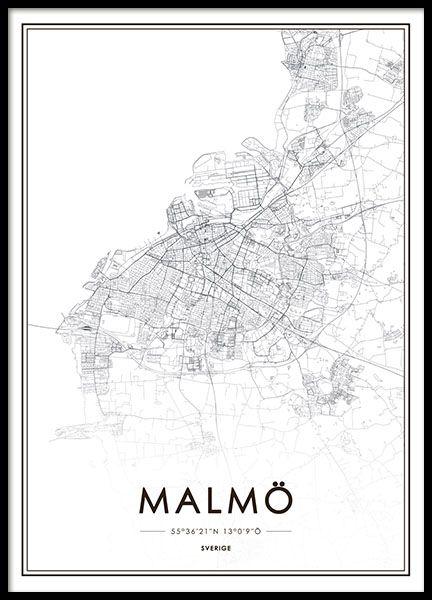 Tavlor, posters och affischer med världskarta och städer | Karta med New York, Paris, Stockholm | Desenio.se