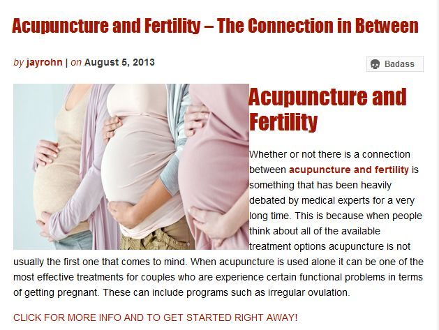 Acupuncture and Fertility – The Connection in Between | Jay Rohn Empower Network Blog | Awesome Screenshot