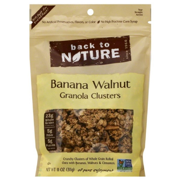 Back to Nature Banana Walnut Granola Clusters