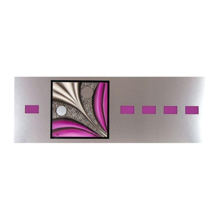 Cuadro aluminio óleo abstracto 63