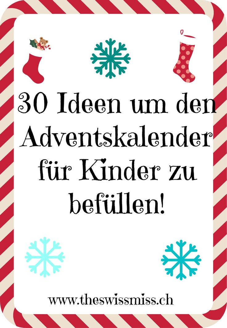30 ideen um den adventskalender zu f llen. Black Bedroom Furniture Sets. Home Design Ideas