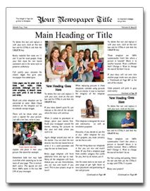 newspaper article template online - Ozil.almanoof.co