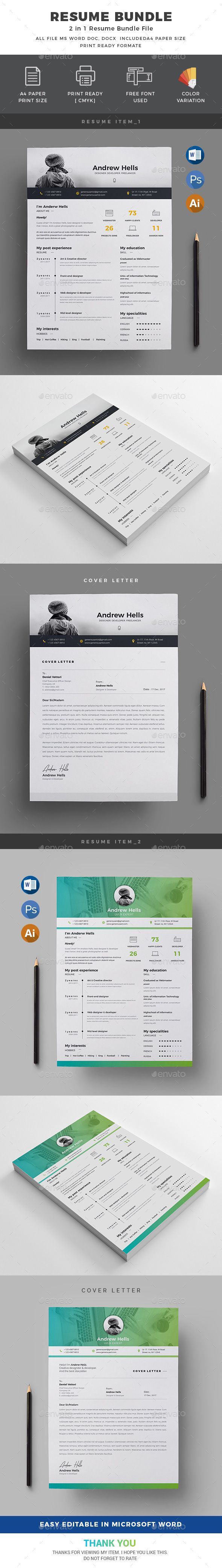 Resume Bundle2 in 1 92 best Effective