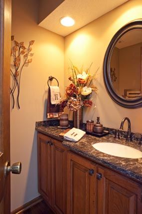 Designed By Our Friends At The Cabinet Store, This Vanity Features The  Showplace Covington Door