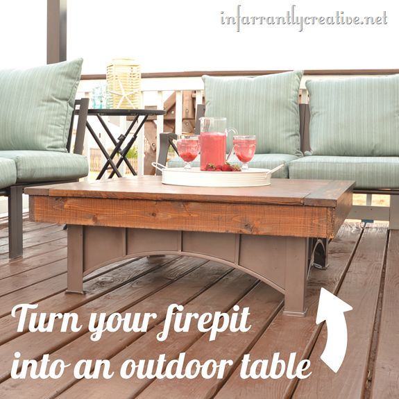 Fire pit table by Infarrantly Creative