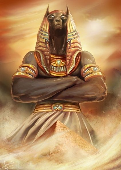 'Anubis, Lord of the Dead' by *Evolvana on deviantART.