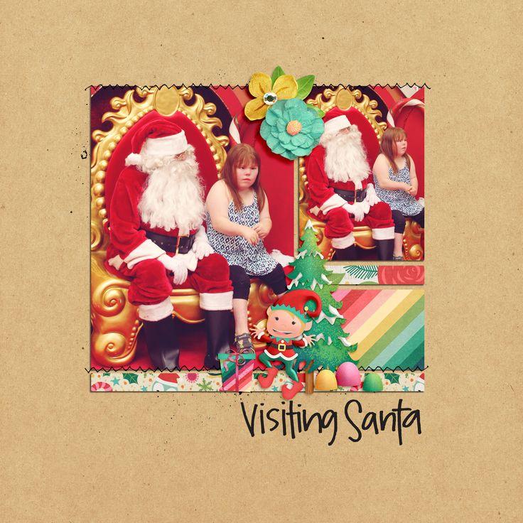 Christmas pages! Using Flergs kit, tis the season.