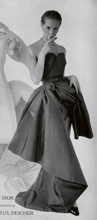 1951 - Vintage Christian Dior dress. Some of the Croft Mill team think that this bow is just too big, what do you think?