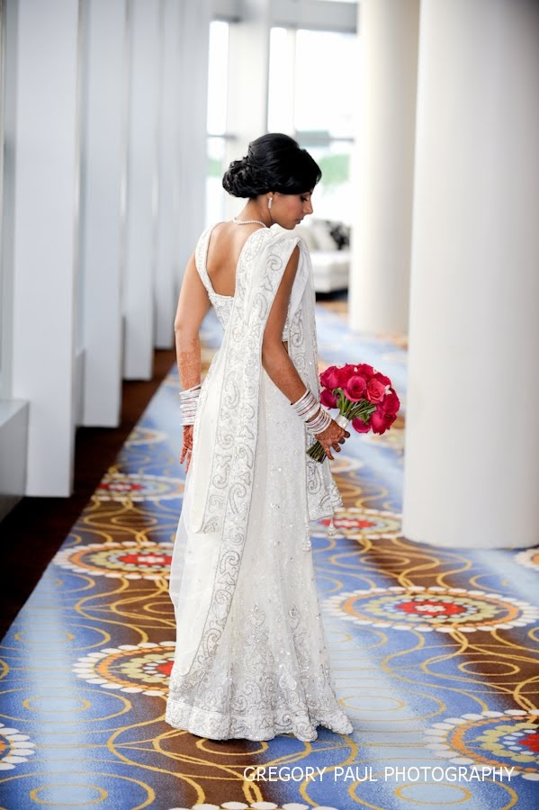 so elegant - white sari #indian #wedding