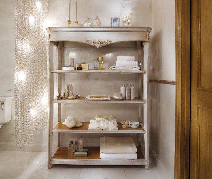Грамотно сэкономить место в ванной комнате поможет #этажерка. Этажерка - предмет мебели в виде нескольких горизонтальных полок, соединённых между собой ажурными стойками. Как Вам идея?! #дизайн #интерьер #стиль #ванная #сантехника http://santehnika-tut.ru