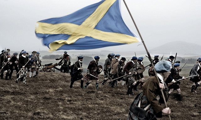 The Appin Banner -  flown by Stewart of Appin's regiment at the Battle of Culloden.