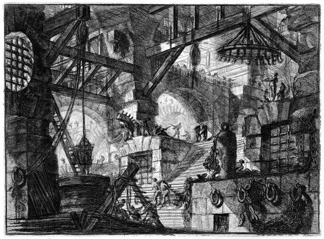 Tavola XII delle Careceri, Piranesi, 1761, acquaforte,  Kupferstichkabinett, Dresden