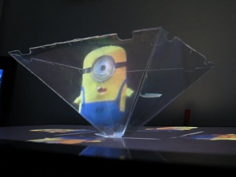 How to use your Smartphone or Tablet to make a 3D hologram projector - Minion - YouTube