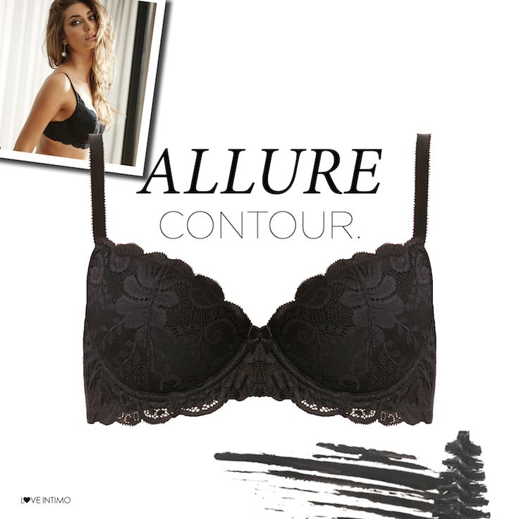 Black & Lacy - who said you can't have style and comfort? Discover the Allure Contour Bra in Black, White & Honey: https://www.intimo.com.au/shop/item/contour-bra