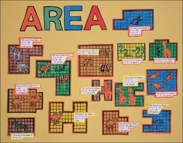 Children can practice calculating the surface area of a shape.