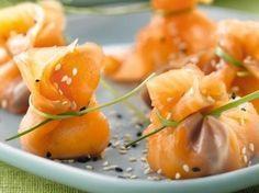 Zalmbeursjes gevuld met roomkaas recept - Hapjes - Eten Gerechten - Recepten Vandaag